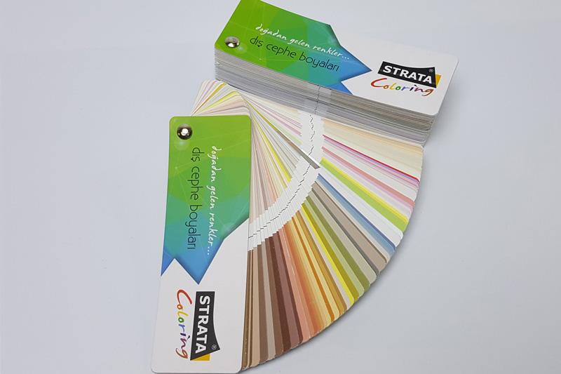 strata iç cephe boya renk kartelası basımı